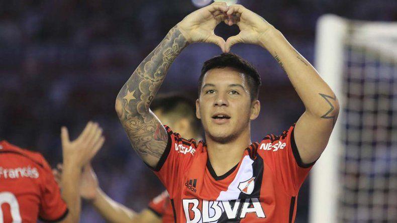 Sebastián Driussi es uno de los goleadores que tiene River y el Campeonato de la AFA.