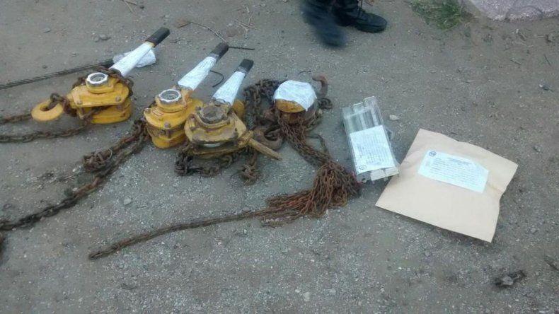 Secuestraron parte de las herramientas robadas a empresa de servicios petroleros