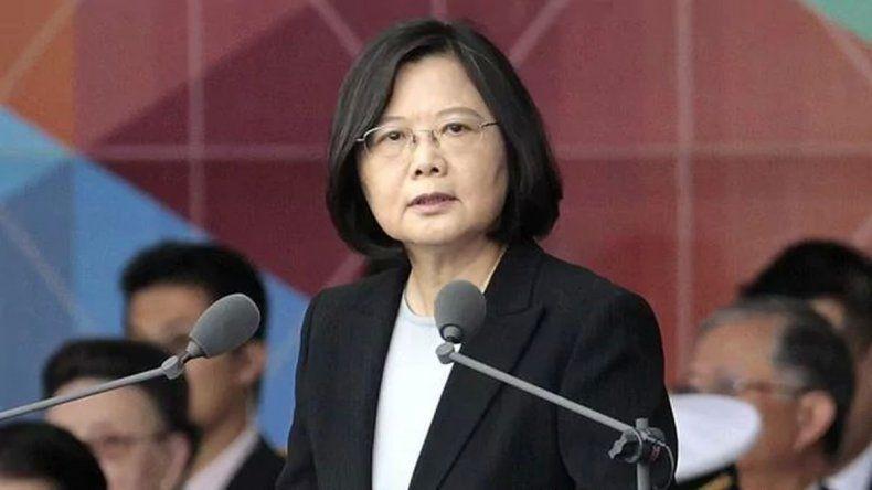 La presidenta de Taiwán Tsai Ing-wen.