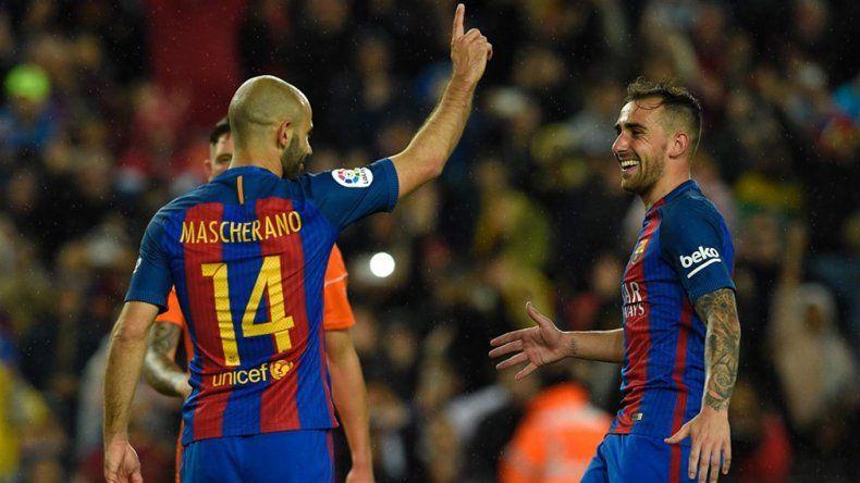 Barcelona aplastó a Osasuna con dos goles de Messi