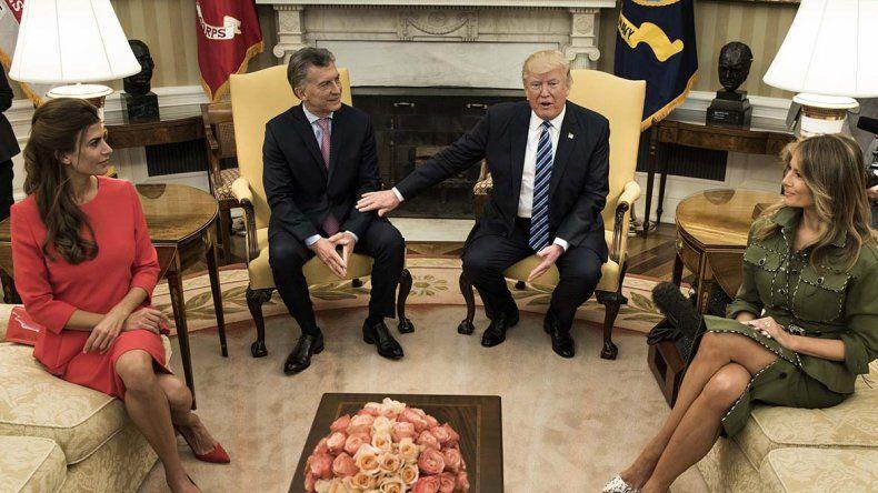Mauricio Macri fue recibido por Donald Trump.