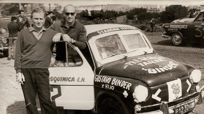 Iglesias Gorostegui cuando corría como Orejano en los Fiat 600 junto a Luis Brazeras.