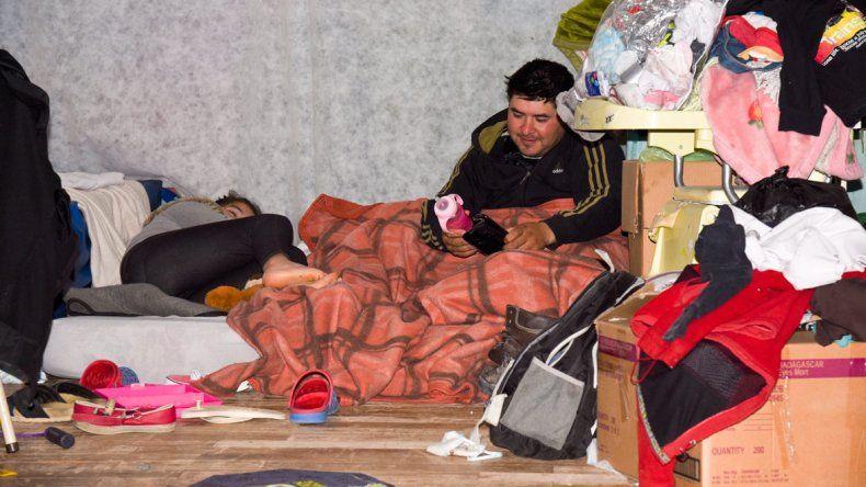 Laprida es uno de los sectores donde todavía se contabilizan una importante cantidad de evacuados.