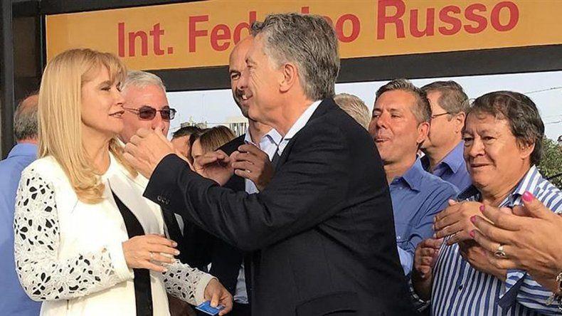 El presidente durante la inauguración del nuevo ramal del Metrobus.