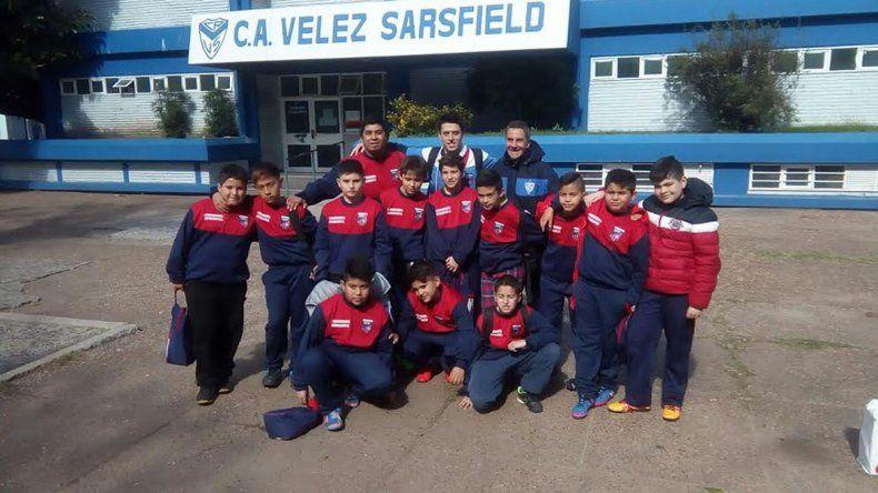 Los chicos de Comodoro visitaron el predio de Vélez.