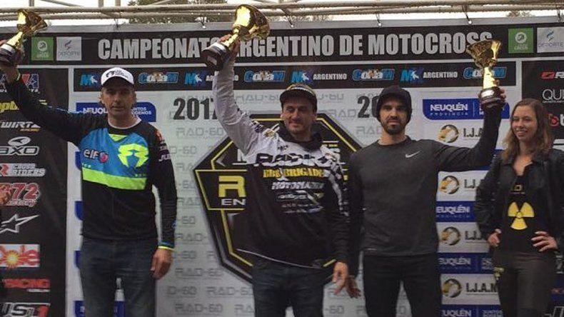 El comodorense Alejo Pires volvió al Argentino de MX y subió al podio.