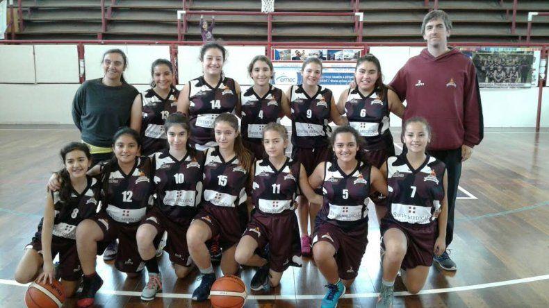 Las chicas U13 de Federación Deportiva que ganaron su compromiso ante Gimnasia.