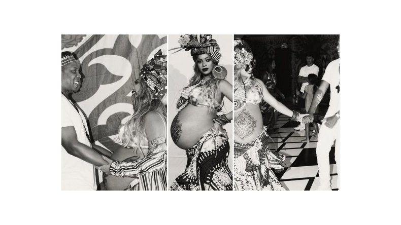 El baby shower africano de Beyoncé, embarazada de mellizos