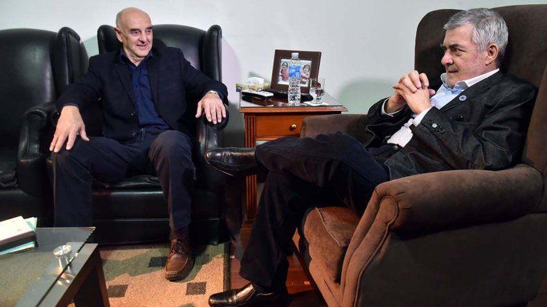 Das Neves recibió ayer a Rafael Williams. El gobernador volvió a criticar a la gestión de Mauricio Macri por ajustar sobre los más débiles.