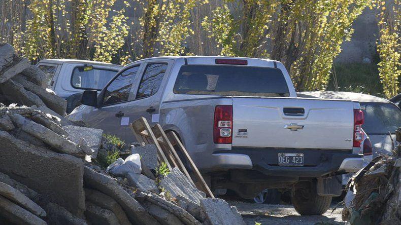 La camioneta que la Policía le secuestró al coordinador de Licencias de Conducir.