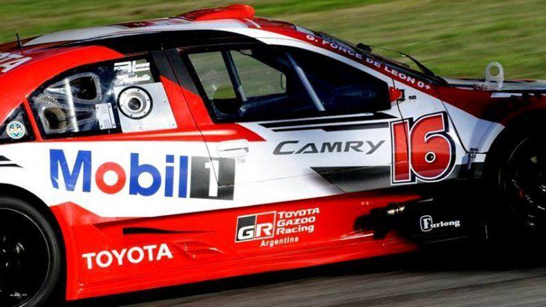 El Toyota de Gabriel Ponce de León que ayer dominó en la clasificación del Top Race V6.