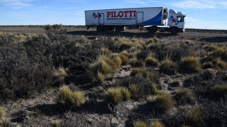 Piratas del asfalto. El camión frigorífico fue asaltado 100 kilómetros al norte en plena Ruta 3. Se estima que los delincuentes se llevaron cerca de un millón de pesos.