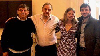Linares durante la reunión que mantuvo ayer en Buenos Aires con funcionarios de Nación.