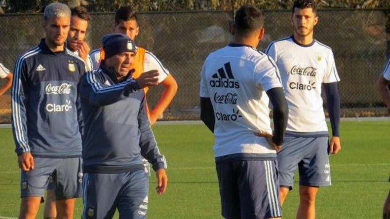 Sampaoli dirigió su primera práctica en la Selección