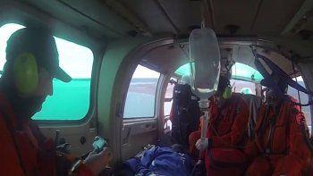 Prefectura evacuó de urgencia a un tripulante enfermo