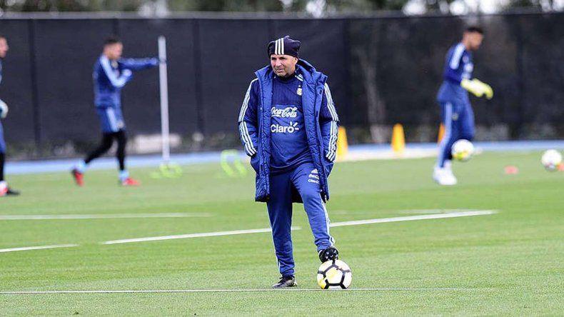 El santafesino Jorge Sampaoli disfruta estar en la selección argentina de fútbol.