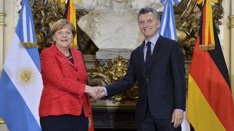 Merkel respaldó la apertura comercial impulsada por el gobierno de Macri