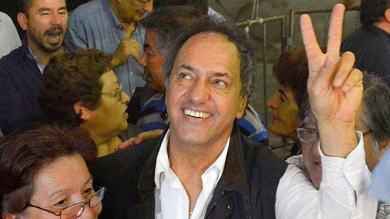 Daniel Scioli llamó a encolumnarse detrás de Cristina en las elecciones de octubre.