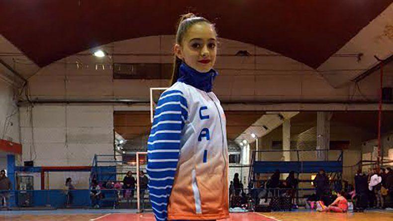 Lucía DElía tiene 12 años y ya se destaca en el más alto nivel del patín artístico.