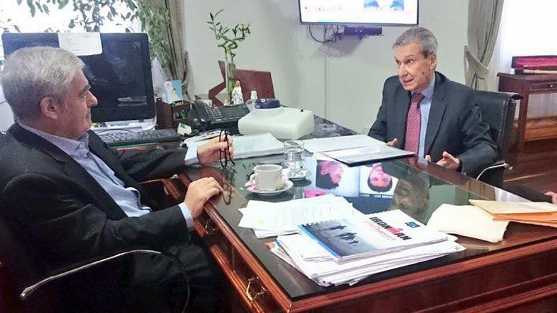 Una de las últimas reuniones que el gobernador de Chubut mantuvo con el presidente del Superior Tribunal de Justicia.