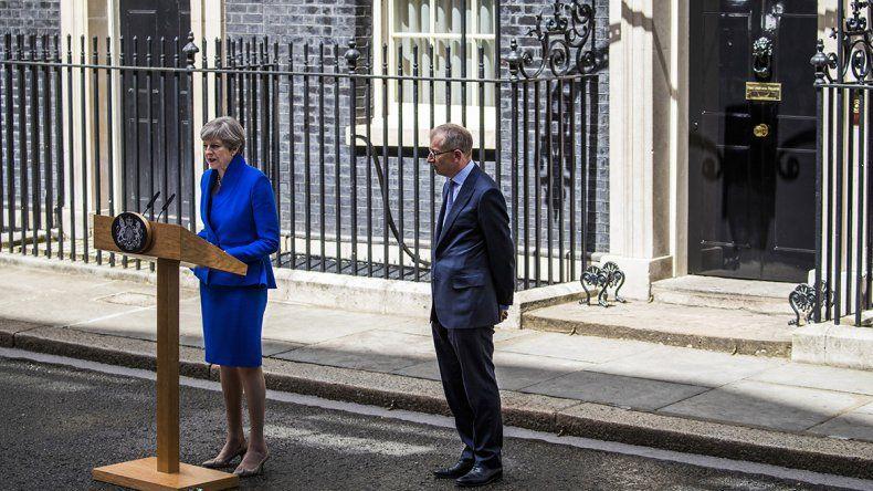 La primera ministra británica atraviesa un momento político muy complejo.
