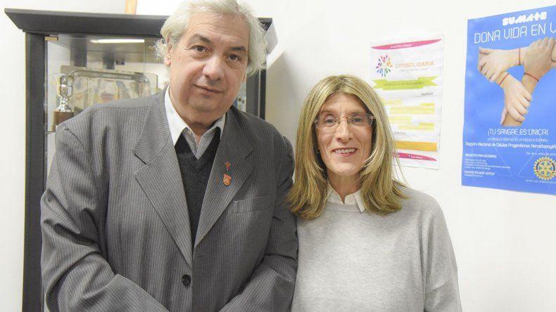 Edda Crespo valoró que el Rotary Club Comodoro Rivadavia Oeste haya decidido homenajearla por sutrabajo académico y de investigación.