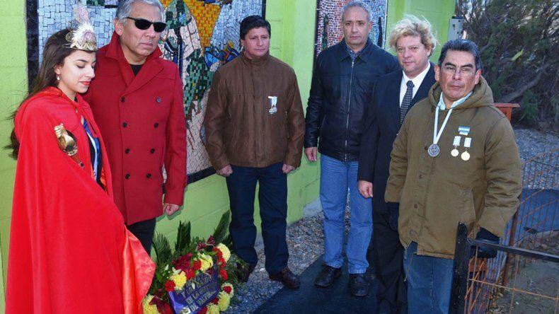Los ex combatientes que residen en Corrientes y en Caleta Olivia acompañaron al comisionado Jorge Solaga y a la soberana de Cañadón Seco