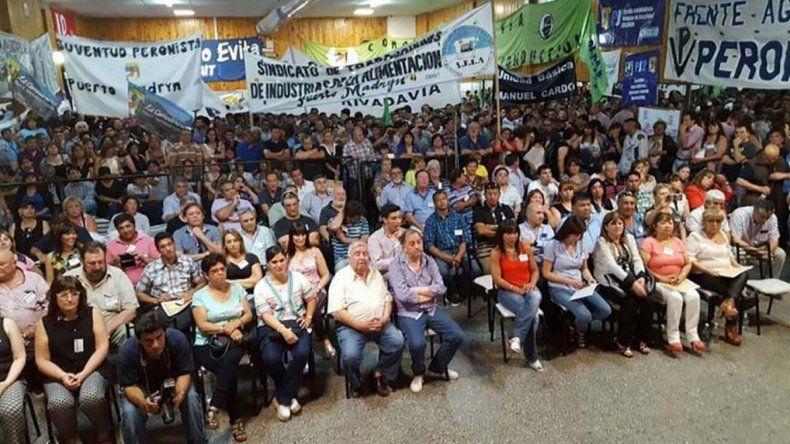 El Congreso del PJ eliminó el Distrito Unico de cara a las PASO de agosto