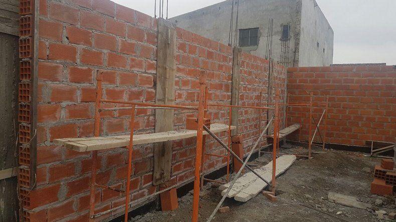 Jerárquicos avanza con la segunda etapa de la sede que construye en Sarmiento.
