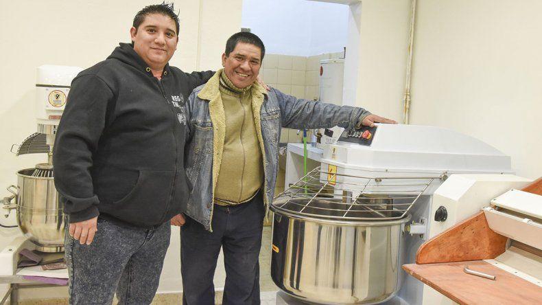 Mauro y José Antisoli están por inaugurar en Próspero Palazzo su panadería familiar que se llamará Tentaciones .