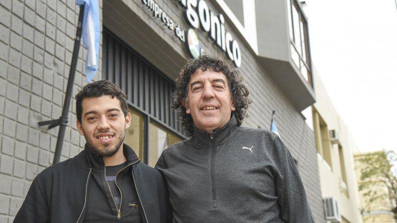 Darío y Hugo Puntano son futbolista y director técnico en el club General Roca.