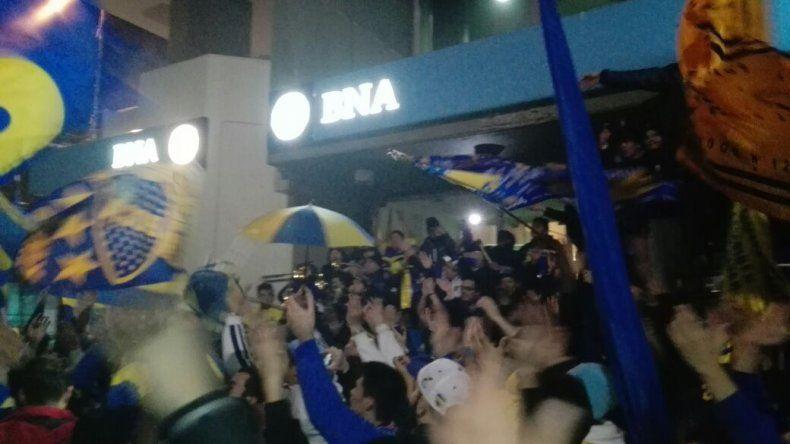 Hinchas de Boca festejaron en el centro