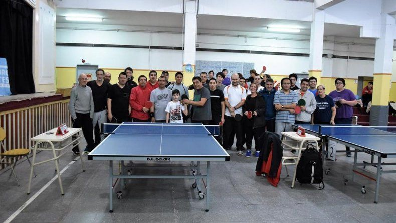 En Palazzo se llevó adelante el 1º Torneo de Tenis de Mesa