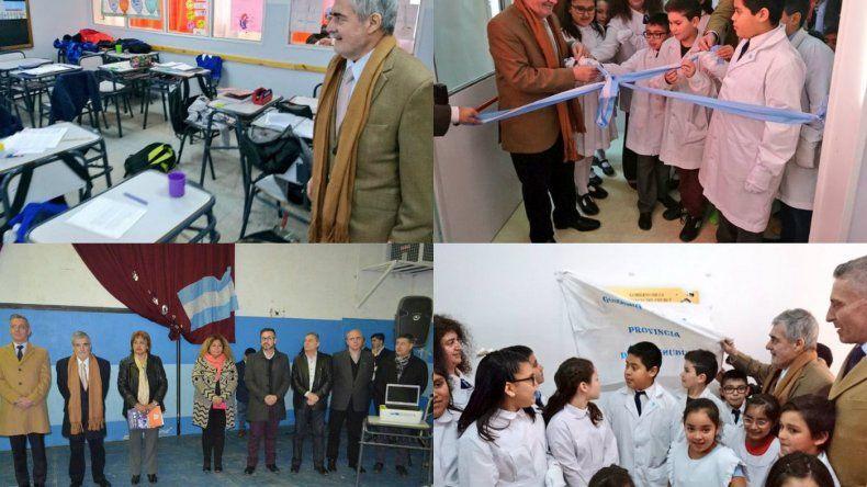 Das Neves inauguró ampliaciones en escuelas de Comodoro
