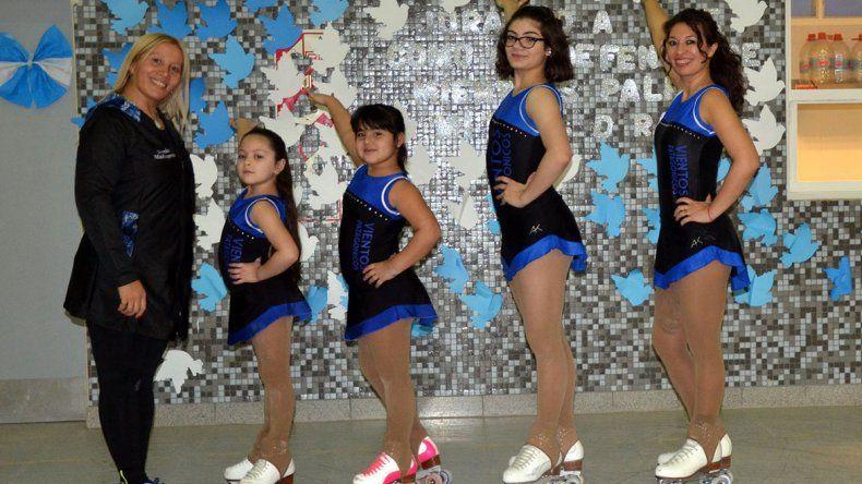Las patinadoras Allison González