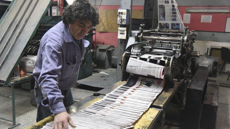 El proceso de impresión de la edición de papel