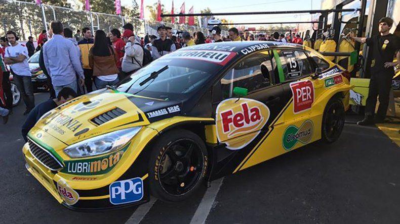 El comodorense logró meterse tercero entre equipos oficiales del Súper TC 2000 en el Desafío de Aceleración.