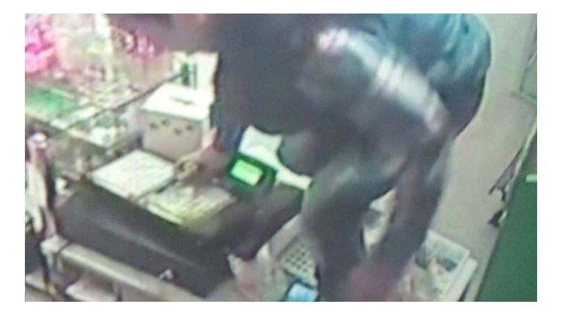 El registro de video donde se capta el momento del asalto.