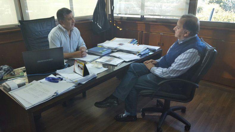 Linares y Pagani firmaron adenda para destinar fondos a la reconstrucción