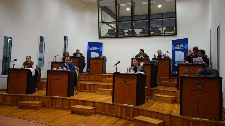 La sesión de ayer a la que asistieron solo nueve concejales.