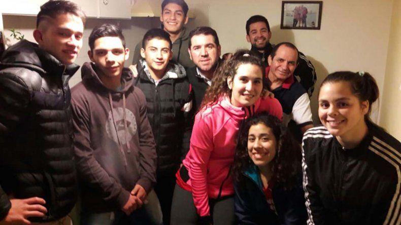 El equipo de lucha de Chubut.