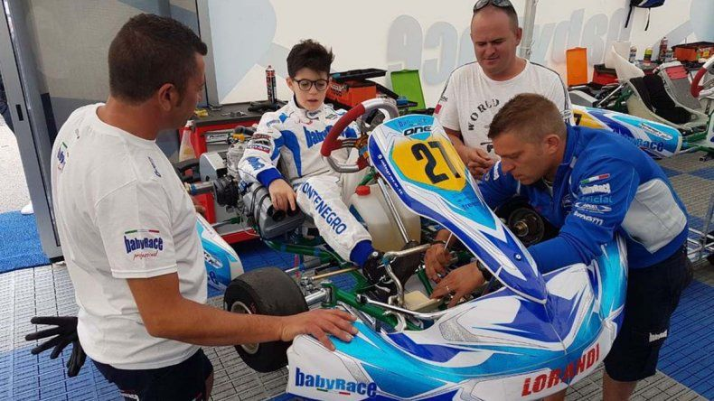 El primer día le sirvió a Montenegro para dejar el chasis en condiciones y reconocer el circuito en Suecia.