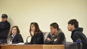 Los imputados durante la audiencia de control judicial que se realizó ayer.