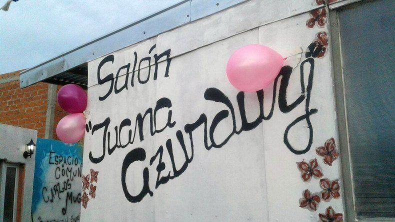 El espacio comunitario Carlos Mugica inauguró el salón Juana Azurduy