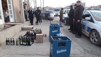 Decomisaron 350 litros de bebidas alcohólicas