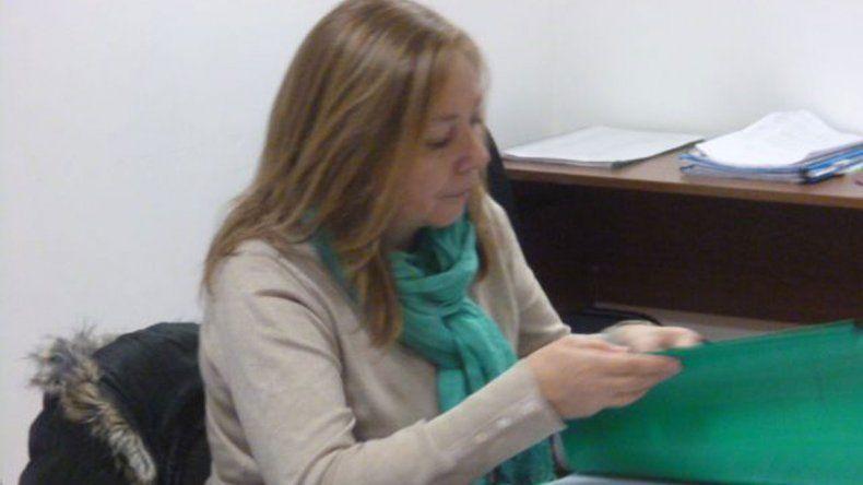 La fiscal Laura Castagno estuvo al frente de la audiencia judicial contra Walter Hammond.