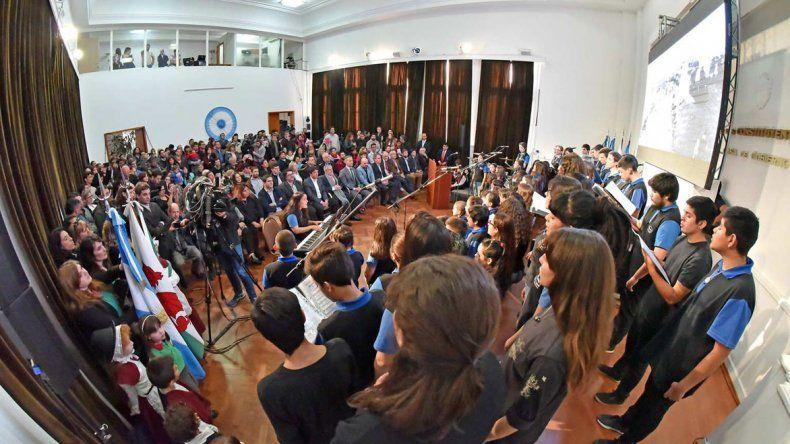 El acto para evocar la llegada de los galeses a Chubut se realizó esta vez en la Casa de Gobierno.