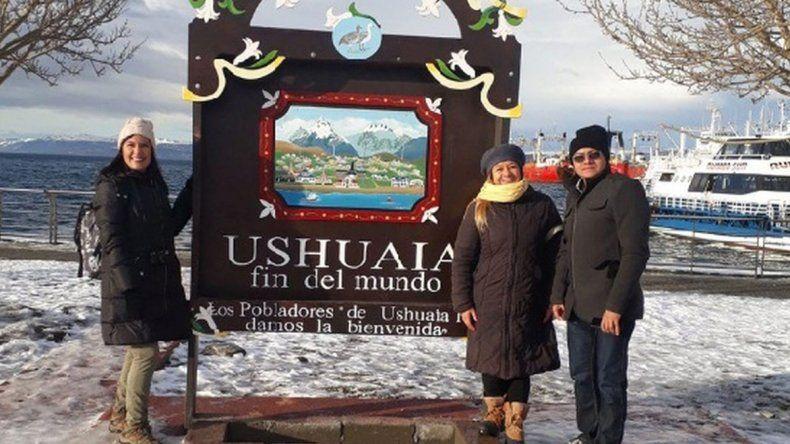 Los periodistas recorrieron el fin del mundo y pudieron disfrutar de su producto turístico más conocido: la nieve.
