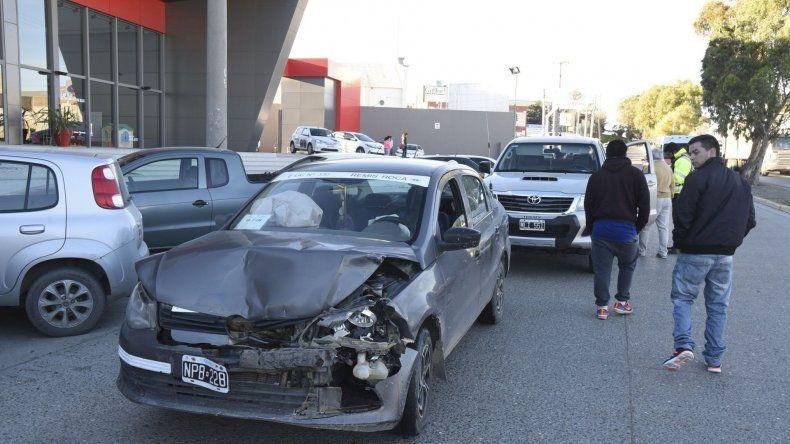 Dos mujeres sufrieron golpes tras un triple choque sobre la avenida Yrigoyen