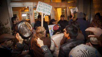 En Viedma las movilizaciones en contra de la central nuclear se intensificaron. Foto: Río Negro